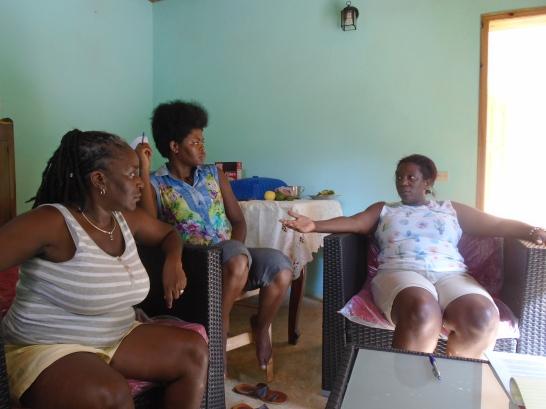 "Lideresas de la asociación ""Fanm Désidé"" del valle de Jacmel"