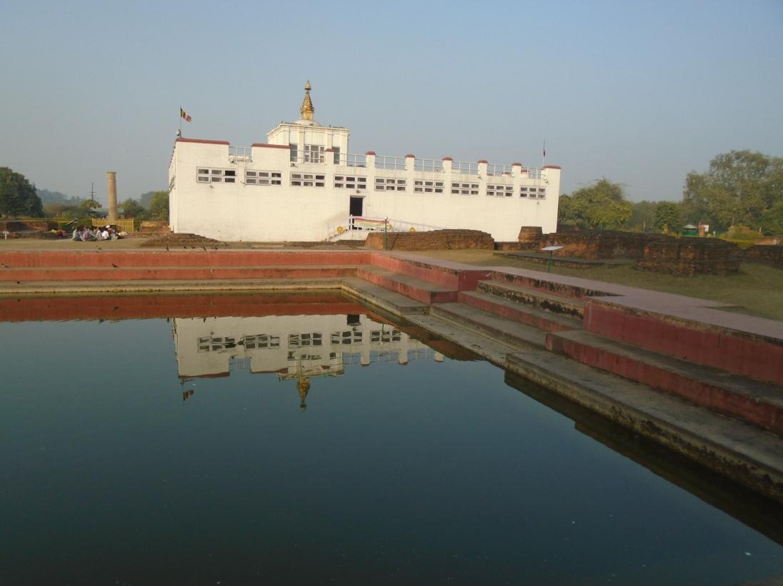Estanque donde se cree que Maya Devi se lavó después de dar a luz a Siddhartha