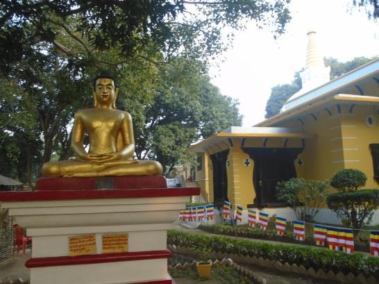 Patio del monasterio nepalí